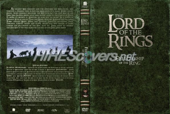 lord of the rings the fellowship of the ring dvd label dvd