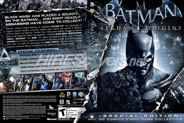 Batman Arkham Origins Cover DVD Cover Custom DVD c...